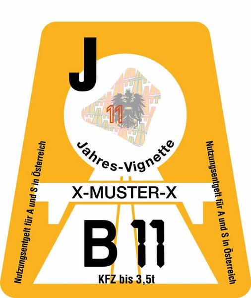 jahres-vignette-osterreich-2011-orange