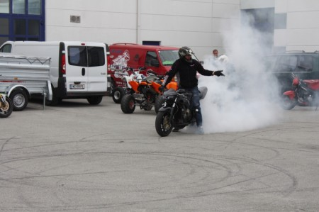 Motomotion Motorrad Burnout