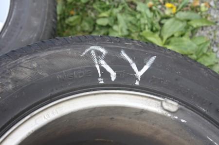 Reifen Beschriftung