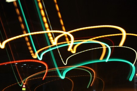 Ampel bei Nacht