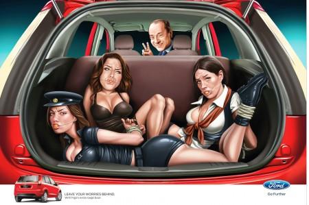 Ford Indien Werbung Berlusconi Frauen
