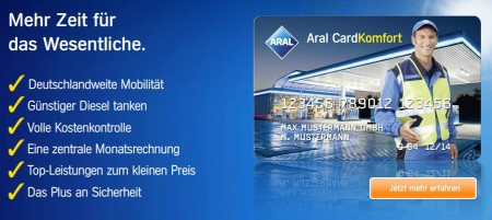 Aral Card Komfort Tankkarte