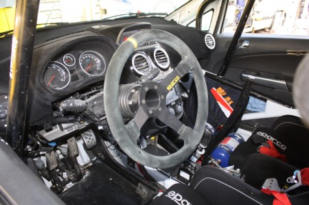 Rebenland Rallye 2014 Opel Corsa OPC Cockpit Innenraum Service
