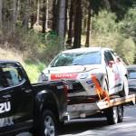 Lavanttal Rallye 2014 Citroen Racing Trophy Citroen Cup DS3 Michael Wolters Unfall Crash Schaden SP 8